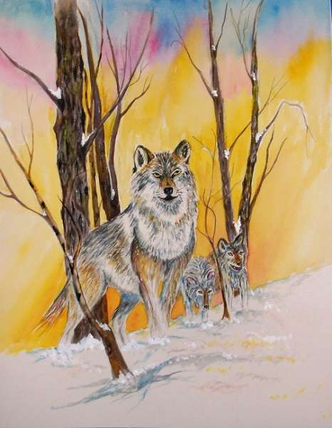 On the Hunt, painting by Mike Bisceglia