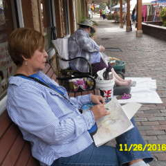 Plein Air paint out at Sanford Farmers Market 2016