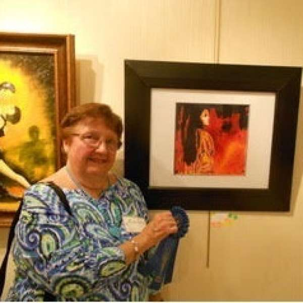 Carmen Civit wins 1st Place Casselberry Arthouse Everything Latin Exhibition