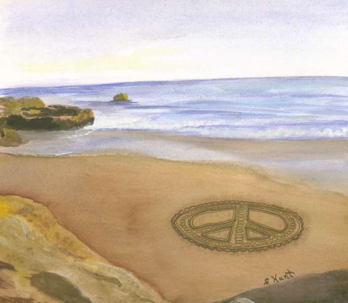 Peace on the beach